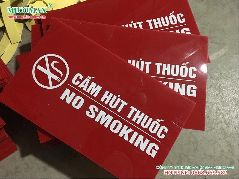 biển cấm hút thuốc giá rẻ