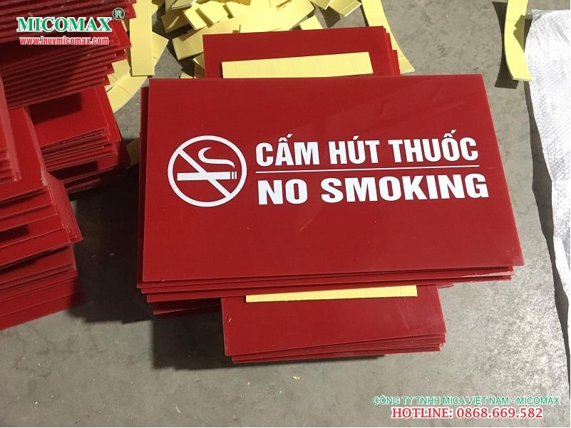 mẫu biển cấm hút thuốc