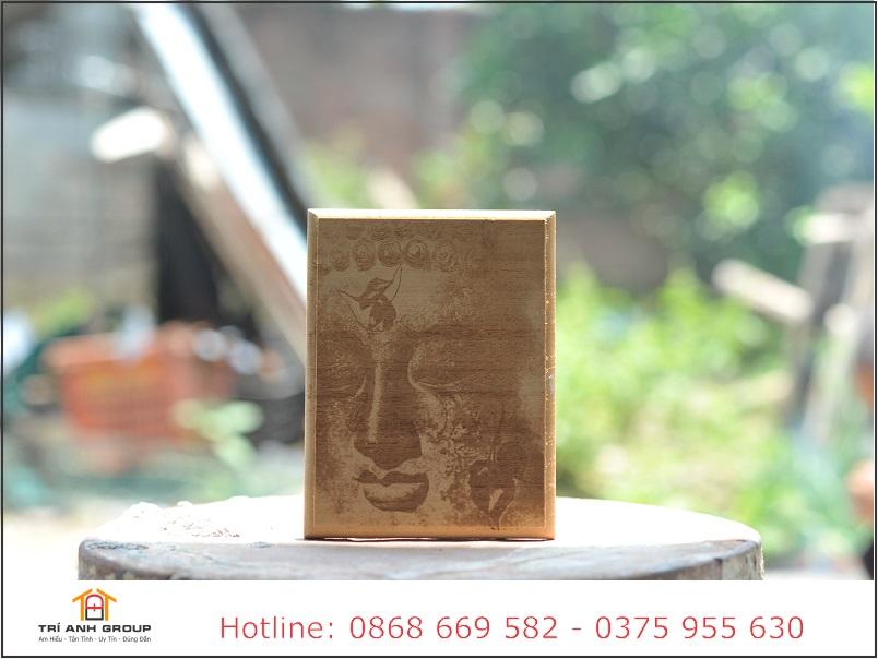 tranh khắc gỗ diện phật